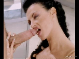 Slutty Brunette MILF Laura Angel Loves a Big Fat Cock