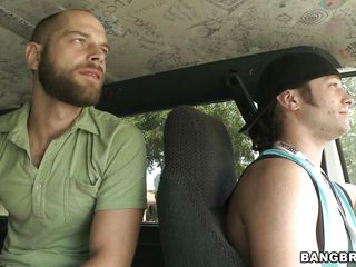 These two fucking dawgs are looking for a babe to nail in their dirty fuck-bus. As they were driving around the neighbour hood looking for a bitch, they were talking stuffs and suddenly they found some one. It's the 30 years old red head milf Cherry standing in the side walk. Bingo!!