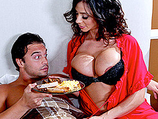 When a guest at her sofa and breakfast is having trouble performing on his honeymoon, Ariella gives a decision to take matters into her own hands...along with his dong!  The hostess with the mostest, Ariella will bow over backwards in order to leave her guests satisfied.