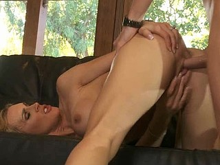 Pal cums on his sexy girlfriend after banging her so nicely